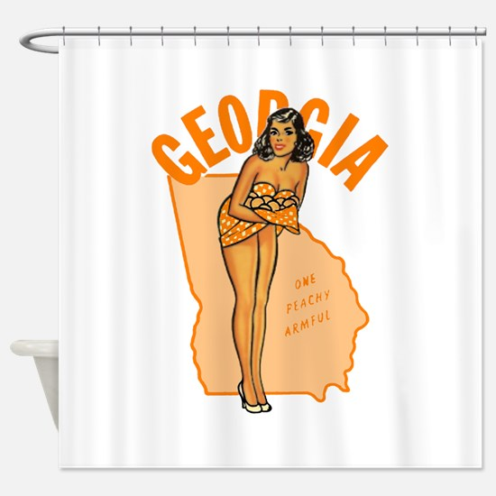 Vintage Georgia Pinup Shower Curtain