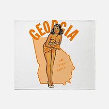 Vintage Georgia Pinup Throw Blanket
