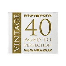Fancy Vintage 40th Birthday Throw Blanket