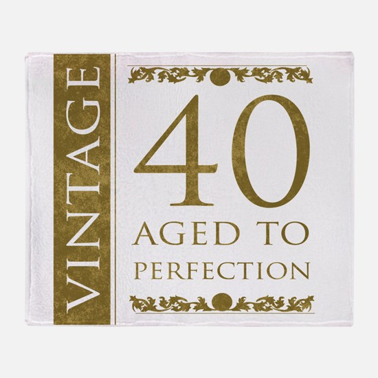 Fancy Vintage 40th Birthday Throw Blanket
