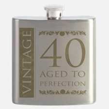 Fancy Vintage 40th Birthday Flask