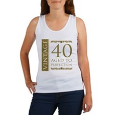 Fancy Vintage 40th Birthday Women's Tank Top