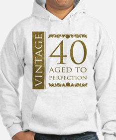 Fancy Vintage 40th Birthday Hoodie