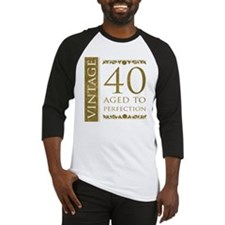 Fancy Vintage 40th Birthday Baseball Jersey
