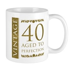 Fancy Vintage 40th Birthday Mug