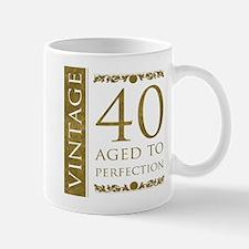Fancy Vintage 40th Birthday Mug