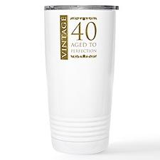 Fancy Vintage 40th Birthday Travel Mug