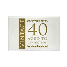 Fancy Vintage 40th Birthday Rectangle Magnet (100