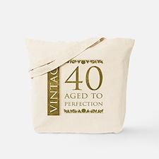 Fancy Vintage 40th Birthday Tote Bag