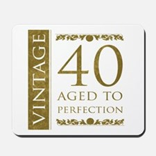 Fancy Vintage 40th Birthday Mousepad