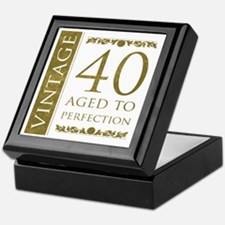 Fancy Vintage 40th Birthday Keepsake Box
