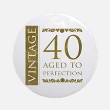 Fancy Vintage 40th Birthday Ornament (Round)