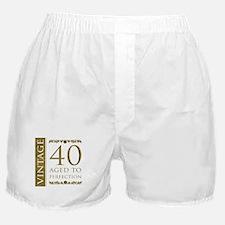 Fancy Vintage 40th Birthday Boxer Shorts