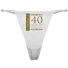 Fancy Vintage 40th Birthday Classic Thong