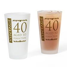 Fancy Vintage 40th Birthday Drinking Glass