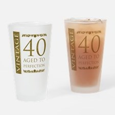Fancy Vintage 40th Birthday Drinking Glass