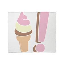 I Love Icecream Throw Blanket