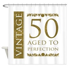 Fancy Vintage 50th Birthday Shower Curtain