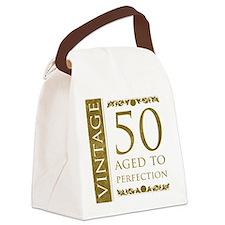 Fancy Vintage 50th Birthday Canvas Lunch Bag