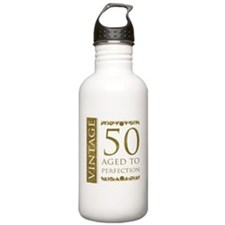 Fancy Vintage 50th Birthday Water Bottle
