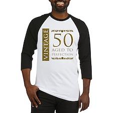 Fancy Vintage 50th Birthday Baseball Jersey