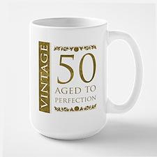 Fancy Vintage 50th Birthday Mug