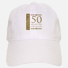 Fancy Vintage 50th Birthday Baseball Baseball Cap