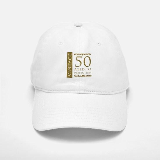 Fancy Vintage 50th Birthday Baseball Baseball Cap