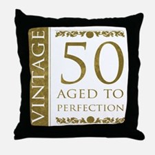 Fancy Vintage 50th Birthday Throw Pillow