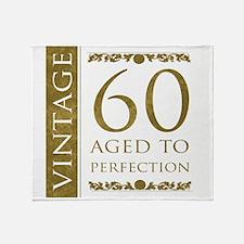 Fancy Vintage 60th Birthday Throw Blanket