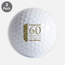 Fancy Vintage 60th Birthday Golf Ball
