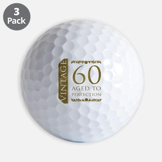 Fancy Vintage 60th Birthday Golf Ball
