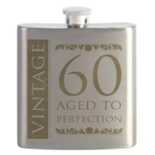 Fancy Vintage 60th Birthday Flask