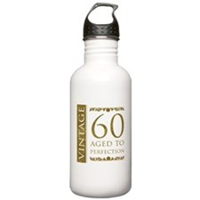 Fancy Vintage 60th Birthday Water Bottle