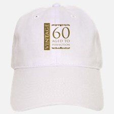 Fancy Vintage 60th Birthday Baseball Baseball Cap