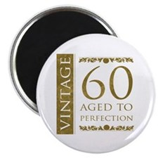 "Fancy Vintage 60th Birthday 2.25"" Magnet (10 pack)"