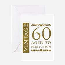 Fancy Vintage 60th Birthday Greeting Card