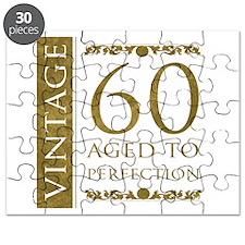Fancy Vintage 60th Birthday Puzzle