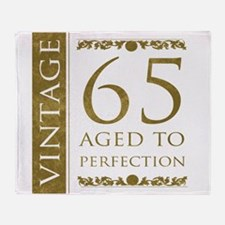 Fancy Vintage 65th Birthday Throw Blanket