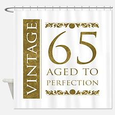 Fancy Vintage 65th Birthday Shower Curtain
