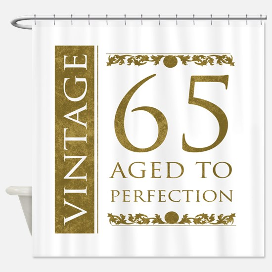 Fancy Vintage 65th Birthday Shower Curtain