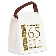 Fancy Vintage 65th Birthday Canvas Lunch Bag