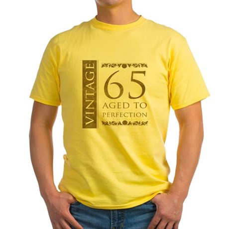 Fancy Vintage 65th Birthday Yellow T-Shirt