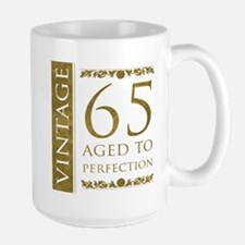 Fancy Vintage 65th Birthday Large Mug