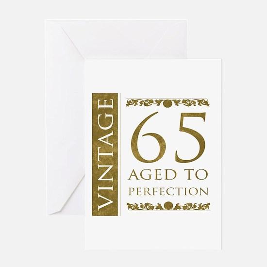 Fancy Vintage 65th Birthday Greeting Card