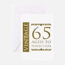 Fancy Vintage 65th Birthday Greeting Cards (Pk of