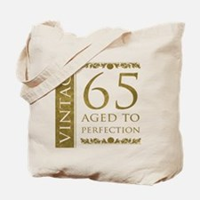 Fancy Vintage 65th Birthday Tote Bag