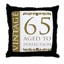 Fancy Vintage 65th Birthday Throw Pillow