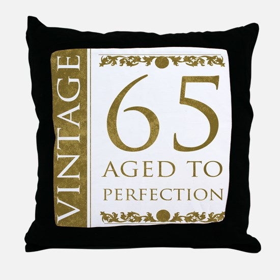 Fancy Vintage 65th Birthday Throw Pillow