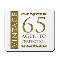 Fancy Vintage 65th Birthday Mousepad